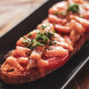 tosta de lomo de sardina en marengo